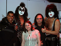 Derek Ambrosi (Editor), Gene Simmons, Chloe McPhilips (Associate Producer), John Ostrosky, and Paul Stanley, MTV Studios, New York, NY, 2006