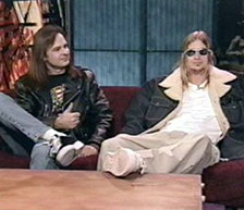 John Ostrosky and Kid Rock, MTV Studios, New York, NY, 1998